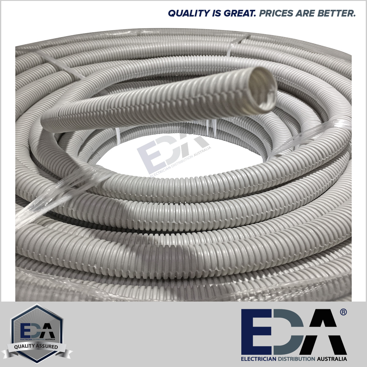 Corrugated Conduit 20mm X 20m Metre Roll Grey Electrical Eda Online Wire 100 Quality Assured Gear Fully Tested To Australian Standards As 3123 5 Year Warranty All Products
