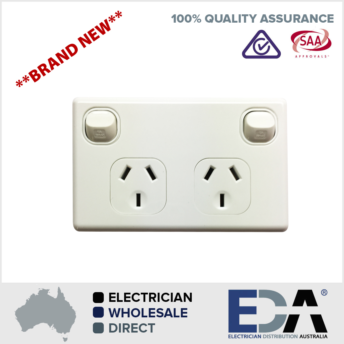 Double pole 240v power point dgpo outlet for caravans trailers products freerunsca Images