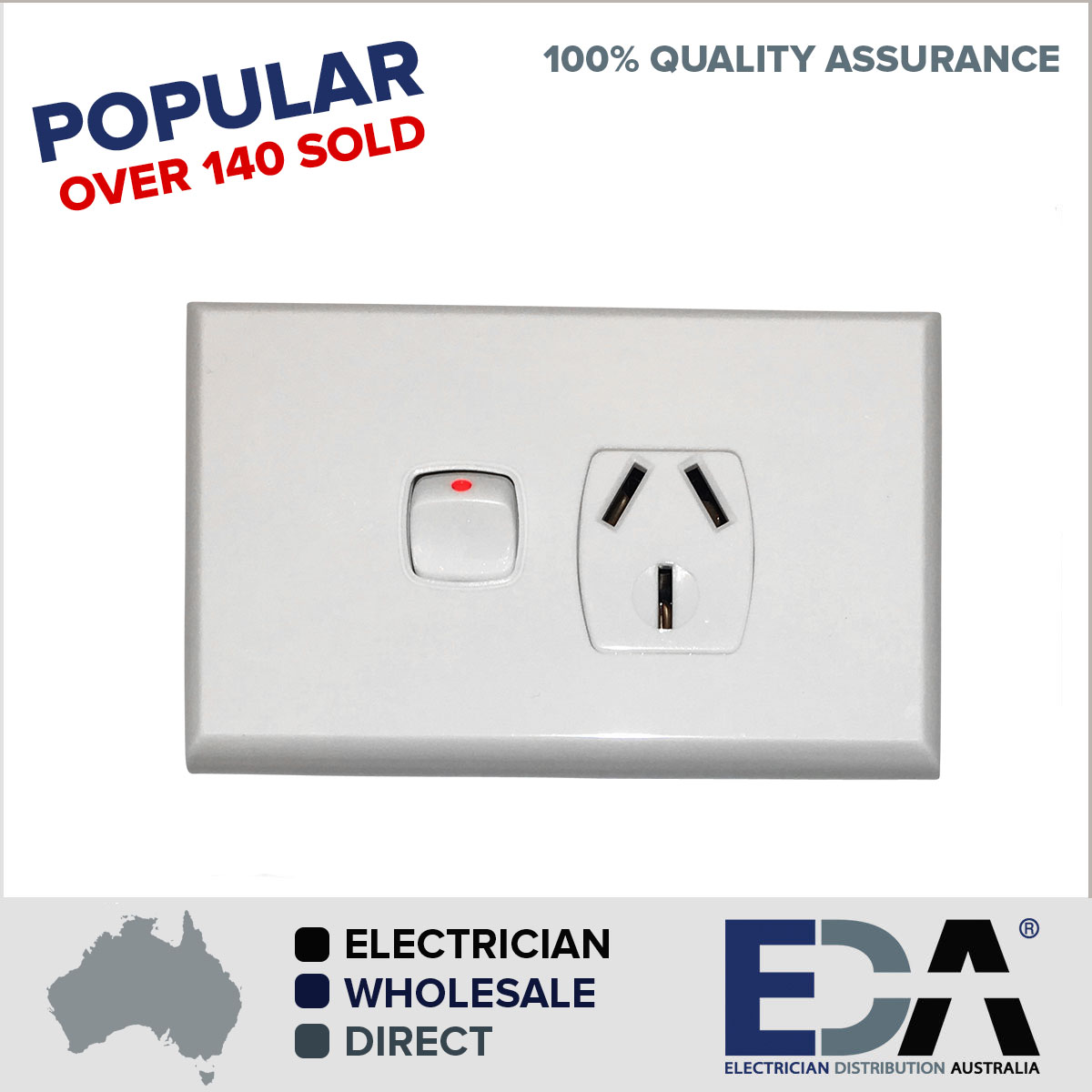 20 amp Single GPO Power Point Outlet Electrical - Eda Online