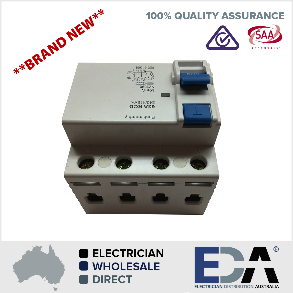 63 amp 4 pole rcd 240415v residual current device safety switch 100 quality assured electrical gear fully tested to australian electrical standards as 3123 5 year warranty all products publicscrutiny Gallery