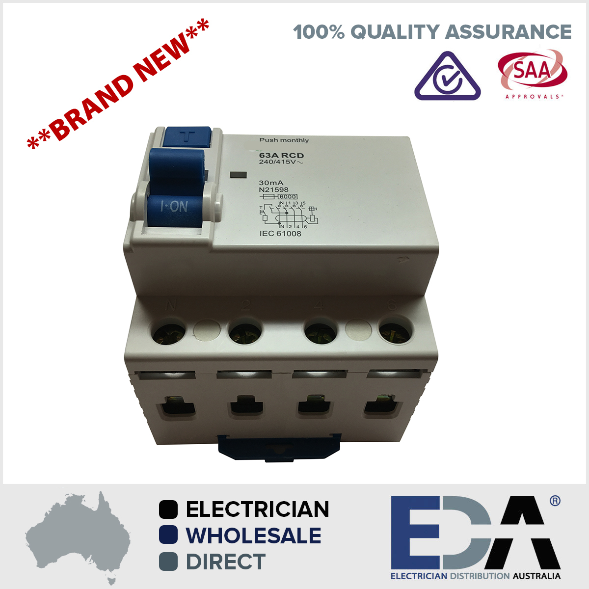 63 amp 4 pole rcd 240415v residual current device safety switch 63 amp 4 pole rcd 240415v residual current device safety switch switchboard eda online publicscrutiny Gallery