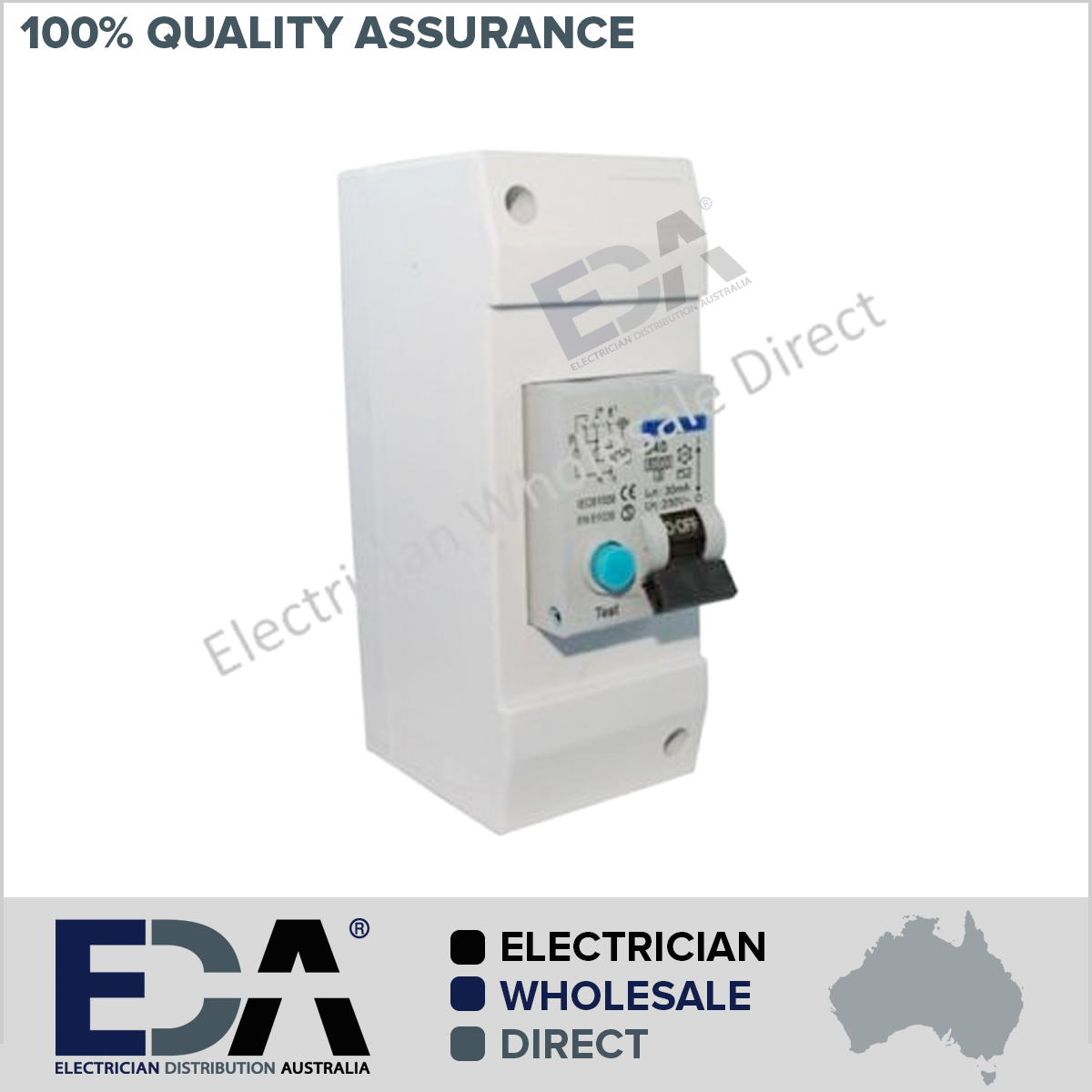 40 amp rcd in a 2 pole enclosure switchboard with din rail consumer rh edaonline com au