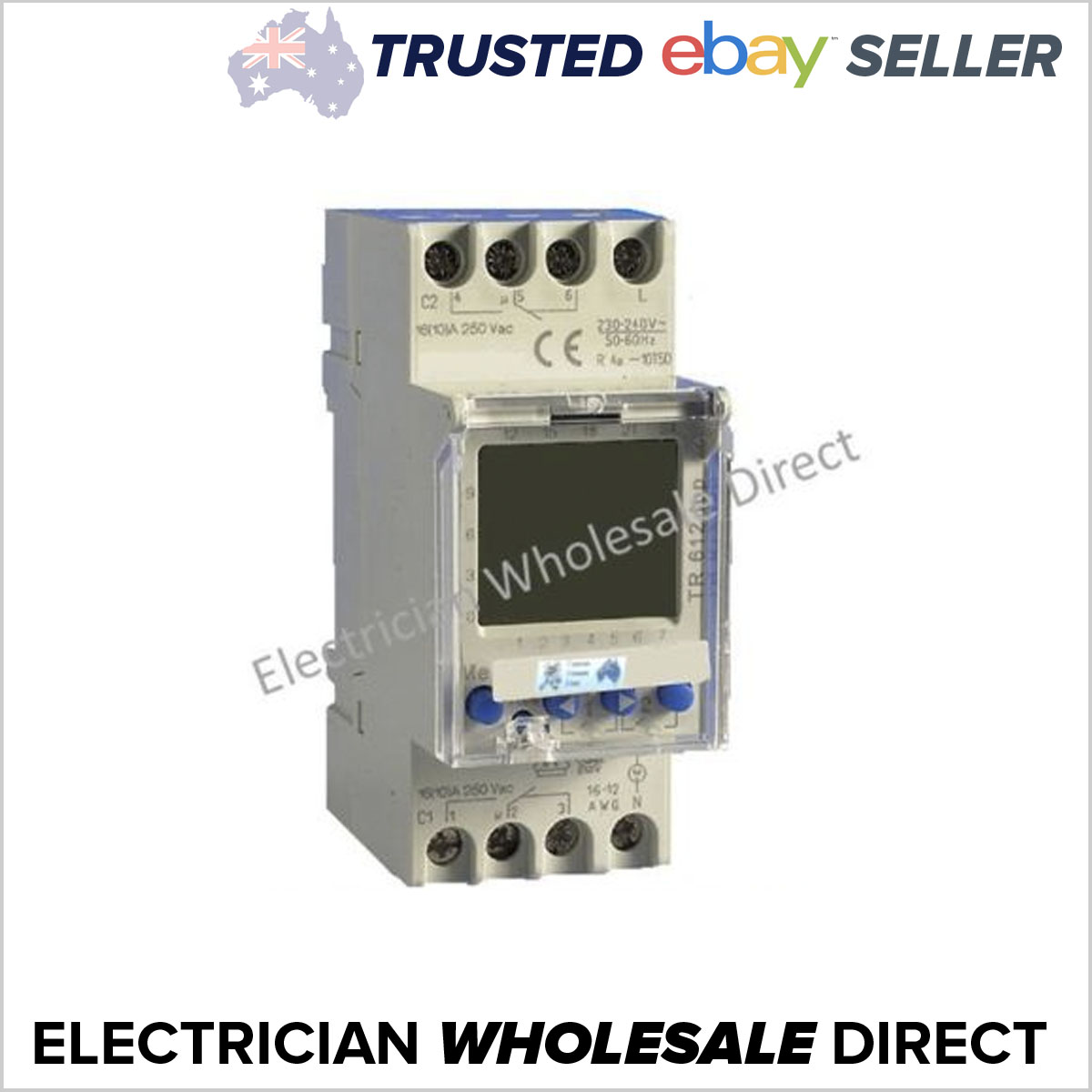 Time Clock Switch 2 Channel 7 Day Digital Pool Pump 24 Hour 240v 16a Circuit Main Product Image