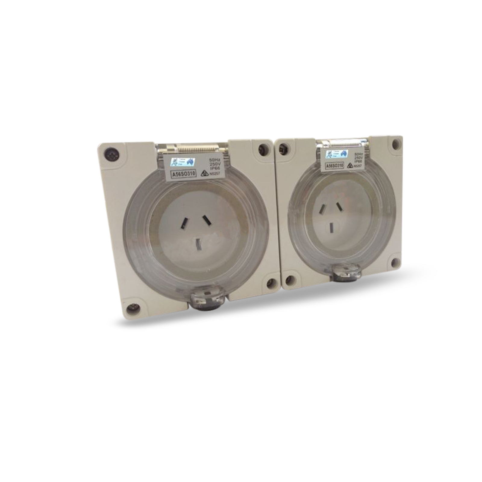 2 X 10 Amp 3 Pin Single Phase Outlet Socket Ip66