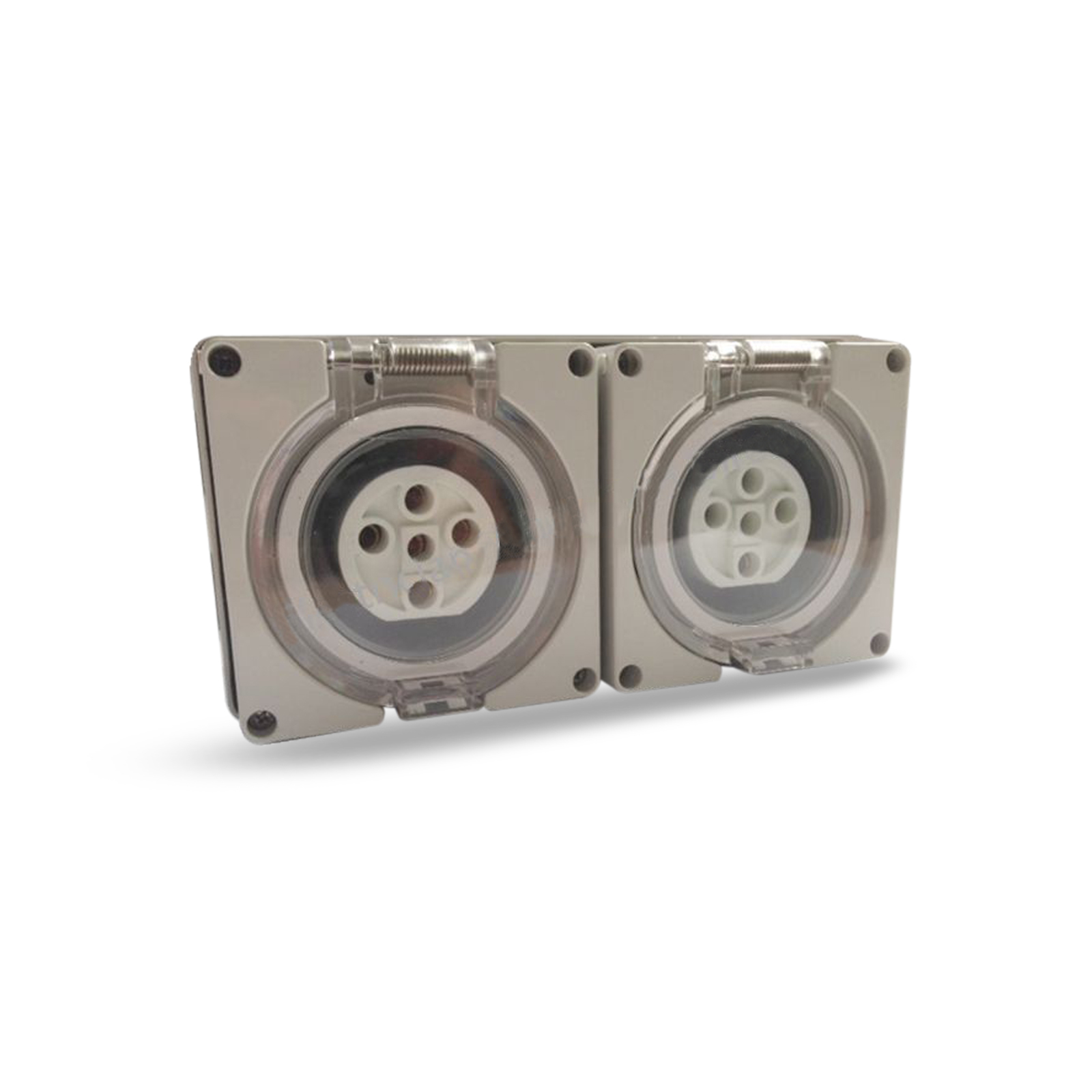 2 X 5 Pin 50 Amp 3 Phase Socket Outlet Ip66 Weatherproof