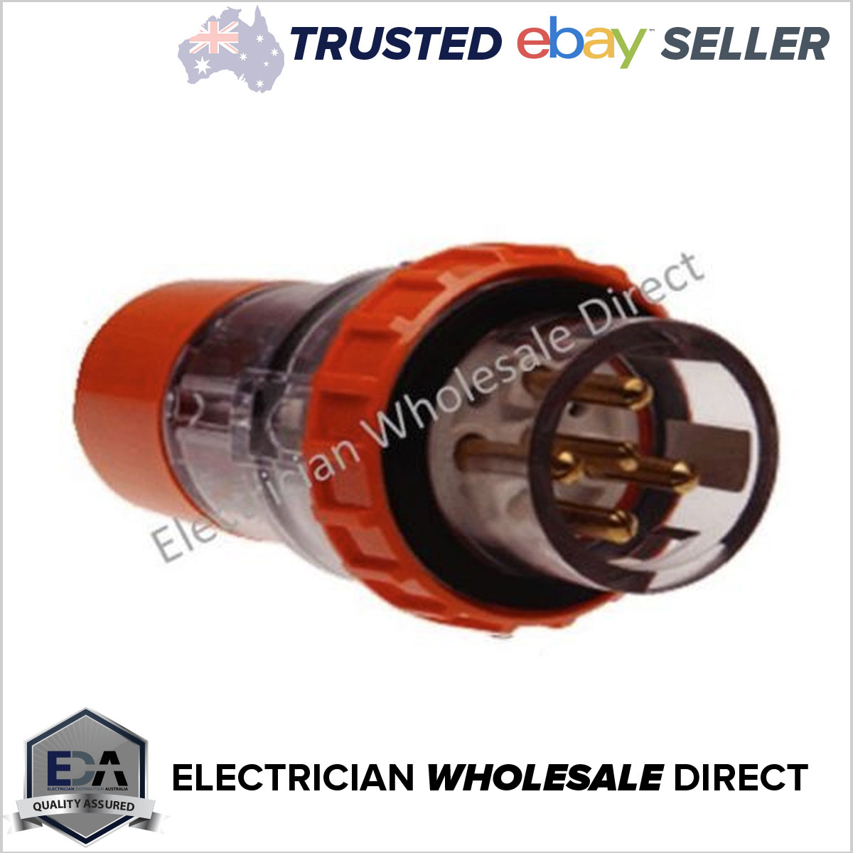 three 3 phase Plug waterproof IP56 32 Amp 5 pin Australian Standard