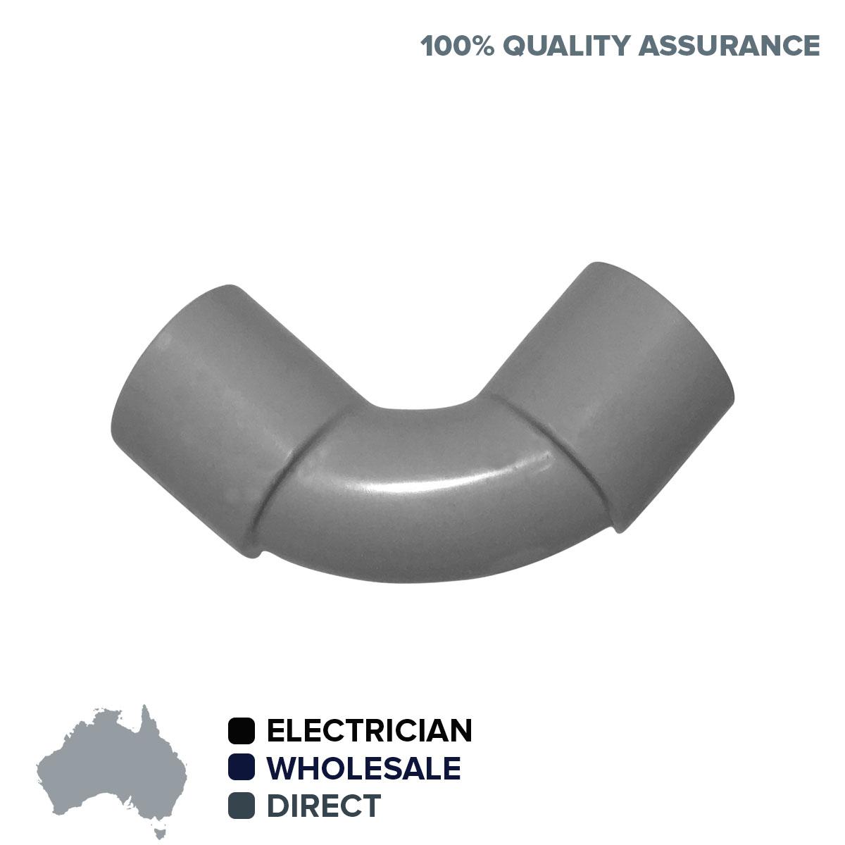 BULK 10 x 20mm 90 degree Elbow Bend Electrical Conduit