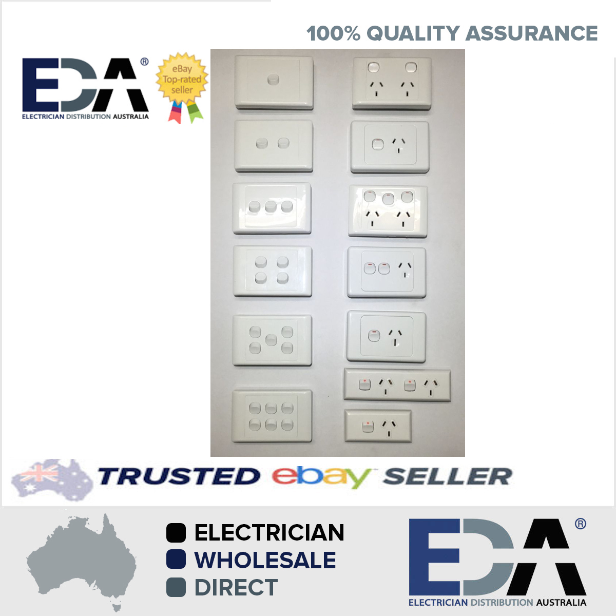 Power point switch gpo socket outlet double 2000 white single eda power point switch gpo socket outlet double 2000 white single eda online toneelgroepblik Gallery