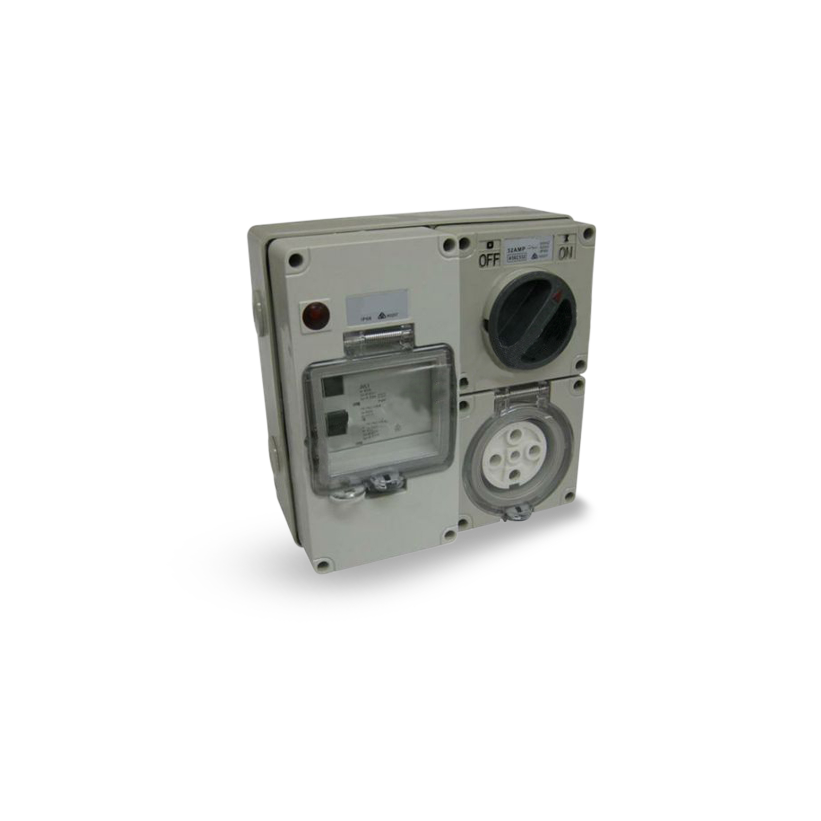 5 Pin 50 Amp Switch Socket Rcd Protected Outlet 4 Pole