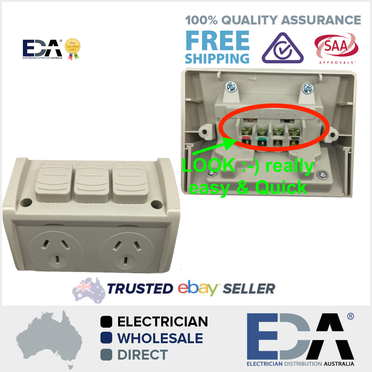 weatherproof dgpo extra switch no wiring double power point quick rh edaonline com au wiring power points in series writing a powerpoint proposal