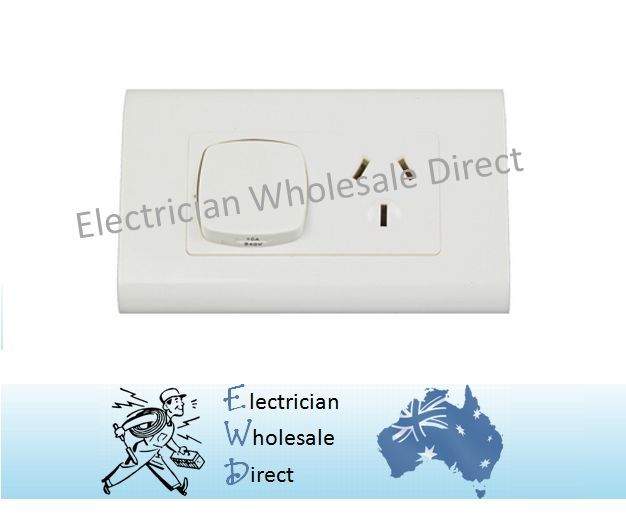 Single Power Point Large Dolly Euro Style GPO Plate Outlet Switch ...