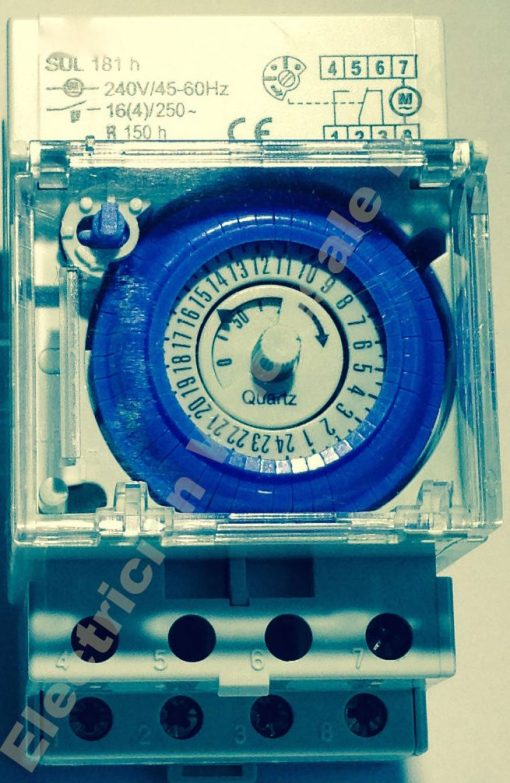 Swimming Pool PUMP Timer 2 Pole 24 Hour 240V 16A battery back up time clock