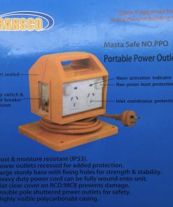 Portable Power Board WORK SAFE APPROVED IP53 4 Way 10 Amp Outlet MCB/RCD  Transco