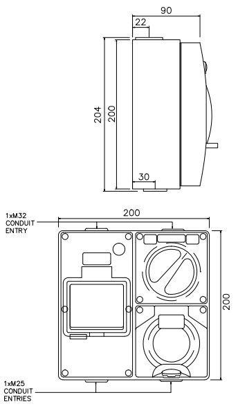 3 Pin 10 15 Amp Socket Rcd Combination Outlet 4 Pole Switchboard Ip66 6ka Rcbo Eda Online Electrical Distribution Australia