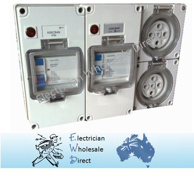 Water Proof Rcd 3 Phase Protected Outlet 2x5pin 1 215 20 1 215 32