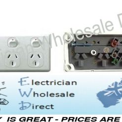 4 Gang Gpo Bulk Box 5 X Power Point Quad Socket Outlet 4 Way Double