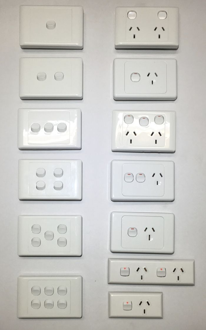 Power Point Switch Gpo Socket Outlet Double 2000 White