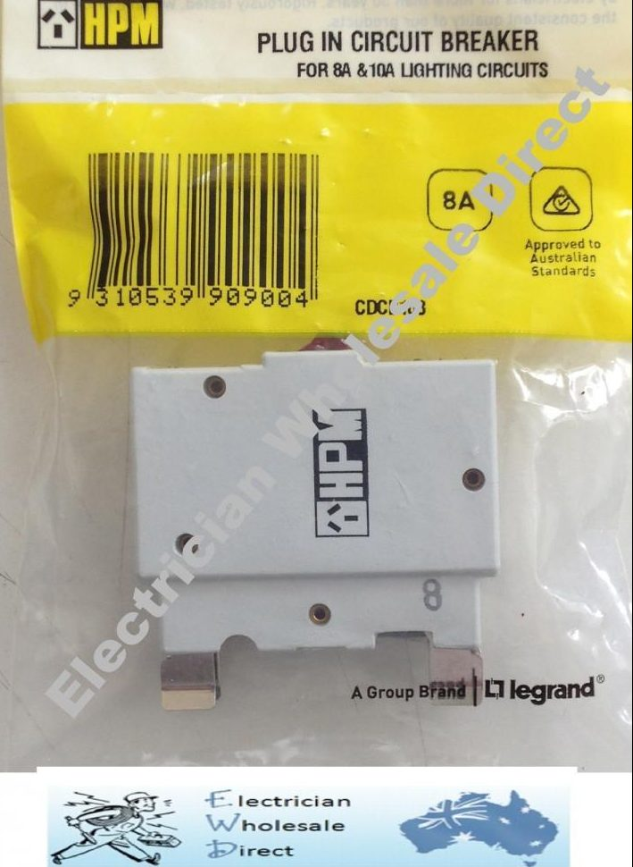 PLUG IN type Circuit Breaker CB - 8 amps to replace old style fuse ...