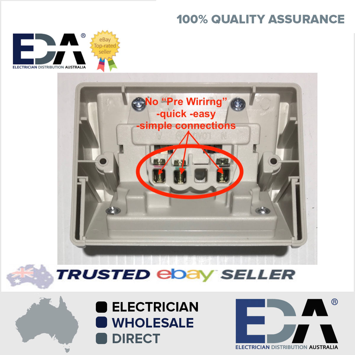 weatherproof dgpo no wiring double power point quick fit off easy rh edaonline com au wiring a clipsal power point wiring up a powerpoint